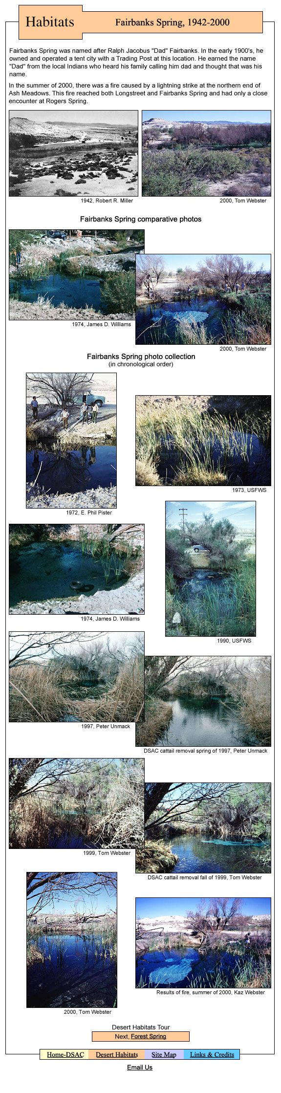 ... and information. A desert fish habitat located in the Amargosa Valley Fish
